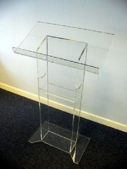 Clear Perspex Lectern